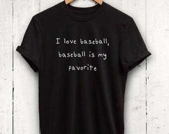 I Love Baseball Tshirt - Womens Baseball Shirt, Baseball Gym Shirt, Baseball Apparel, Cute Baseball Tshirt, Baseball Gift, Baseball Mom Tee
