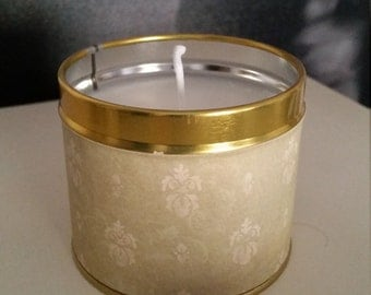 Handmade Coconut  & lime Eco soy wax candle in a pretty tin