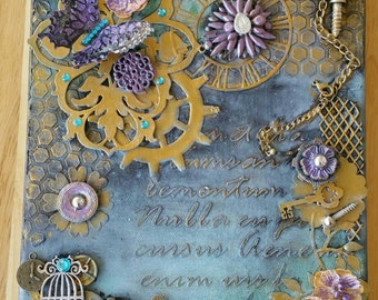 STEAMPUNK 8 x 10 CANVAS Mixed Media