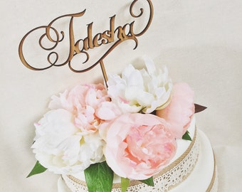 Personalised Cake Topper Raw Timber Cake Topper Custom Cake Decoration Cake Decorating Wedding Engagement Cake Birthday Cake Wooden Topper