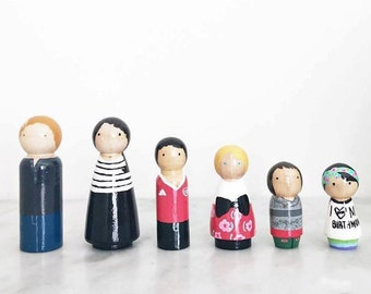 party of 6 / custom family of SIX peg set
