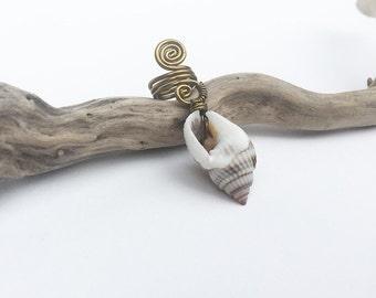 Shell Dreadlock Bead, dread beads, Sea shell dread bead seashell