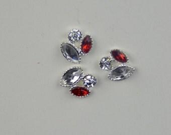 3D bows, 3D gems, diamonds, nail art, nail design