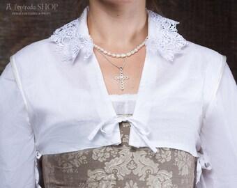 Chemisette Renaissance. Little top chemise for Renaissans gown. Cotton chemise.