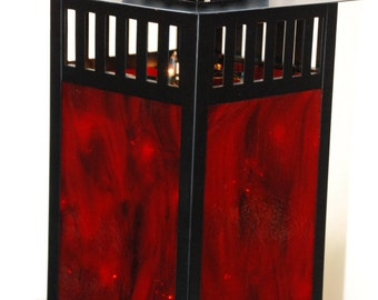 Stained Glass Lantern (red)