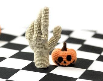 "Hand Thing ""The Addams Family"" crochet  amigurumi  toy"
