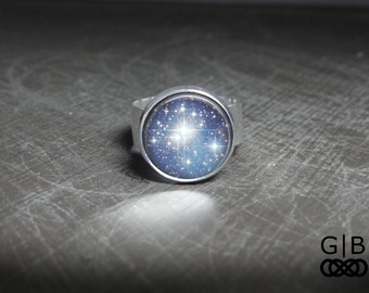ON SALE Blue Ring Sky Full of Stars Ring - Full of Stars Adjustable Ring One Size Fits All - Sky Full of Stars jewelry Blue Star Ring Sky Je