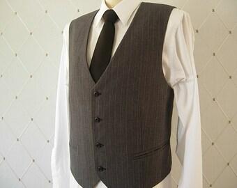 Men's Vest, Gray Vest, Wedding Vest, Gray Wedding Vest, Groom Vest, Groomsmen Vest, Men's Waistcoat, Men's Suit, Businessman Vest