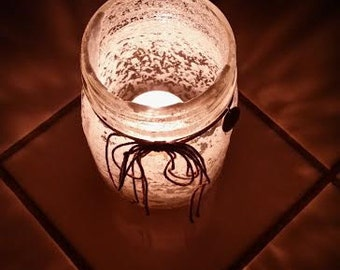 Crystal Mason jar candle