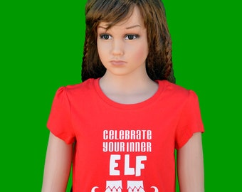 Girl's t-shirt - Christmas t-shirt - Girl's Christmas t-shirt - Elf t-shirt - Funny Christmas t-shirt - Holiday t-shirt - Christmas gift