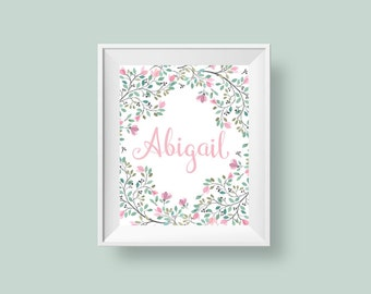 Baby girl wall decor Etsy