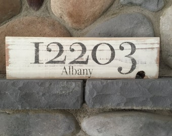 Personalized Zip Code Signs