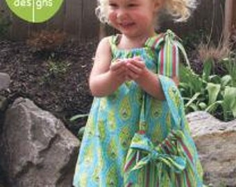 Olive Ann Designs - Bow Babe - Paper Sewing Pattern for Girl's Bubble Hem Dress