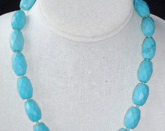 Costume Turquoise or Glass Bead Necklace