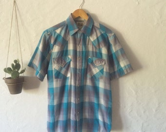 Vintage Western Snap Button Down