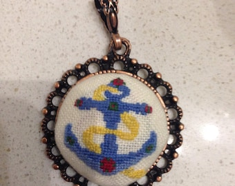 elegant hand embroidery pendant