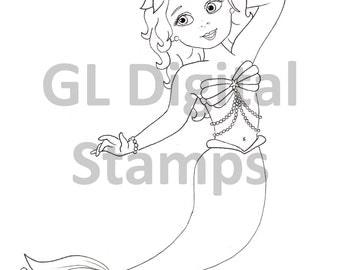 Digital Stamp - Lily