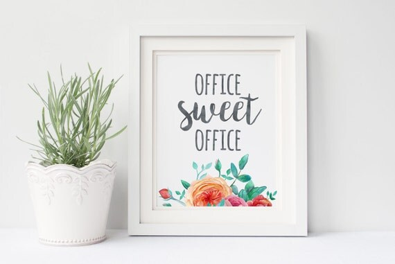 Office sweet office decor 8x10 art print instant download for 8x10 office design