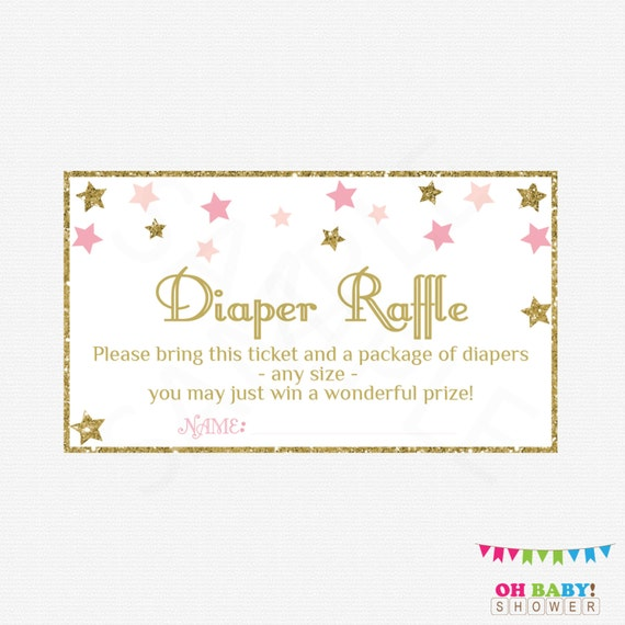 Baby Shower Diaper Raffle: Twinkle Twinkle Little Star Baby Shower Diaper Raffle Ticket