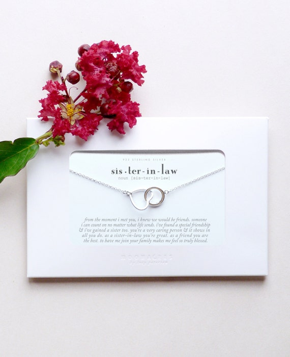 Sister In Law Sister-in-Law Wedding Bride Thank You Gift For Sister ...