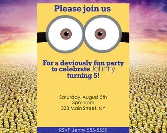 Deviously Minion Party Invite