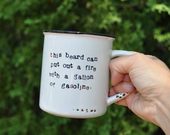 Funny gift for him husband gift boyfriend gift fathers day gift for husband funny gifts for boyfriend gift for dad funny coffee mug beard