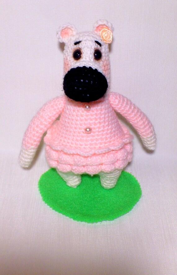 Amigurumi Pink Bear : Baby Toys-Crochet Bear-Stuffed Pink Bear-Amigurumi by ...