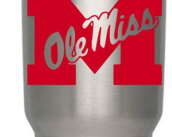 Ole Miss decal, Ole Miss yeti decal, Ole Miss Sticker, Ole Miss Rebels, Ole Miss Love, Ole Miss Gift, Ole Miss, University of Mississippi