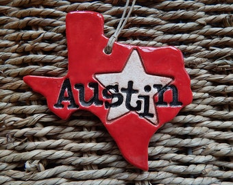 Austin Texas Ornament, Austin Ornament, ATX