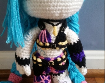 League of Legends Jinx Crochet Doll
