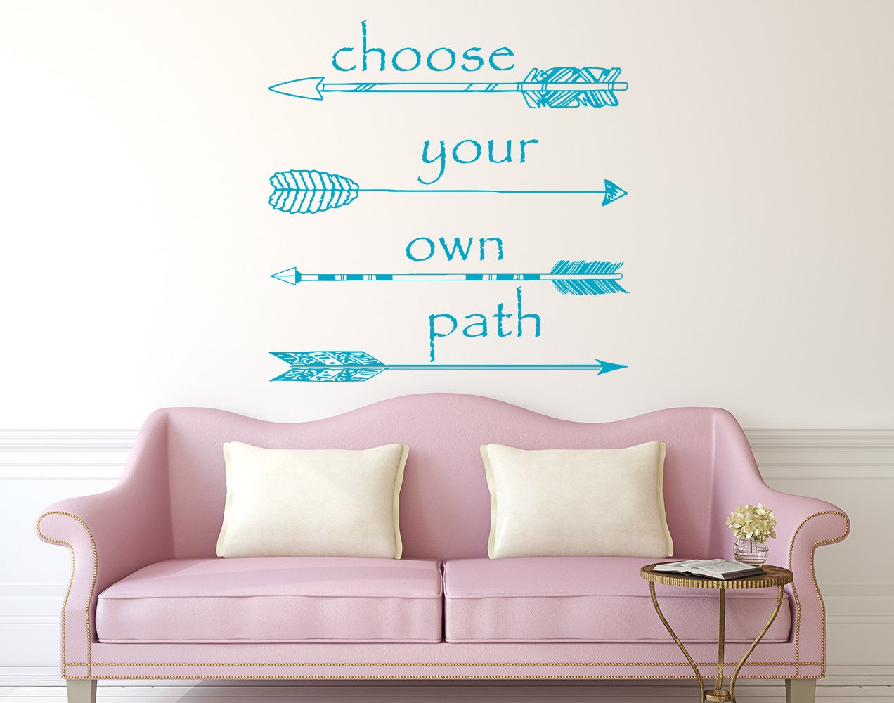 Wall Decal Quote Choose Your Own Path Vinyl Sticker Decals