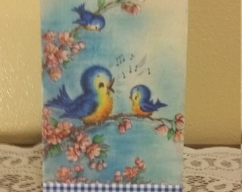 Bluebird kitchen collection wall or self art