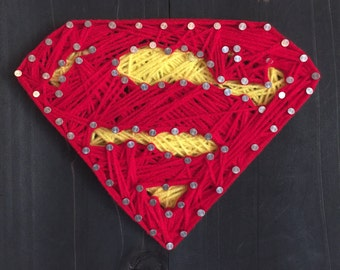 Superman String Art! The Man of Steel...but in String!