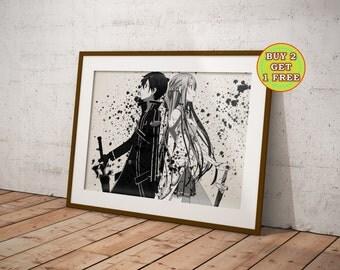 Sword Art Online Poster Kirito And Asuna SAO 2