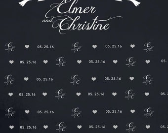 Two Doves Wedding Custom Table or Photo Backdrop (WED-VS-001)