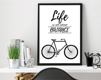 Bicycle, Bike Art, Bike Print, Bicycle Art, Cycling, Bike Accessories, Bicycle Wall Art, Cycling Art, Cycling Poster, Gifts for Cyclists