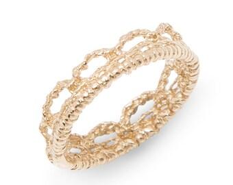 14k Gold Crown Ring
