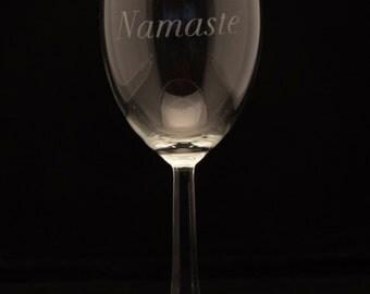 Namaste Wine Glass