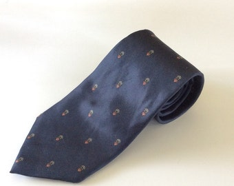 Christian Dior Necktie - Christian Dior - Gift for Him - Vintage Menswear - Silk Christian Dior Necktie - Silk Necktie - Blue Dior Tie