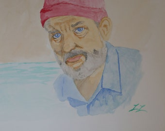 "Bill Murray ""Steve Zissou"" Watercolor"