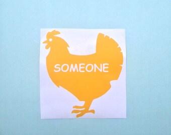 Chicken Vegan Decal, Vegan Decals, Vegan Sticker, Vegan Stickers, Vegan Car Sticker, Vegan Car Stickers, Vegan Car Decal, Vegan Decal, Vegan