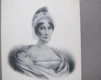 Ramolino Marie Laetitia postcard / Letizia Ramolino antique postcard / Napoleon's mother French Etching postcard / ND Phot