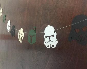 Star Wars Garland / Star Wars Villains - Darth Vader, Storm Trooper, Boba Fett, & General Grievous
