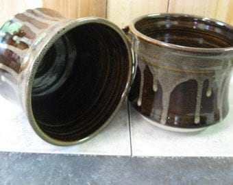 mug, soup mug, latte mug, brown mug, stoneware mug, dishes, handmade, made in Montana, pottery, coffee mug