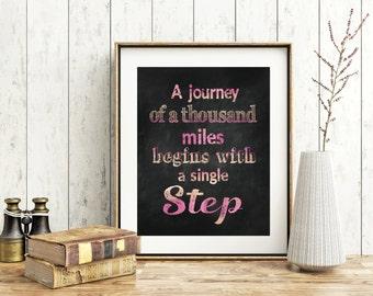 Motivational Quote Print - Chalk Board Print - Chalkboard Wall Art - Quote Print - Framed Quote - Wall Art Quote - Chalkboard Quote Print