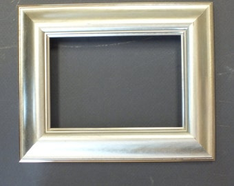 Small Custom Silver Leaf Picture Frame 5 x 7