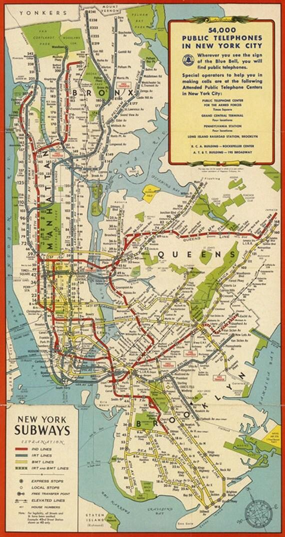 Pdf map New York City Metro