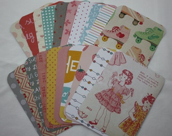 Girly Themed Handmade 3x4 Pocket Page Journal Cards Journaling Cards Scrapbooking Cards Pack of 20