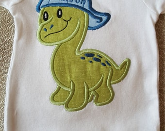 Dinosaur applique Onesie