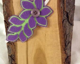 Purple/Green Flower Headband
